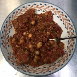 Chili de porc aux deux haricots (2 personnes)